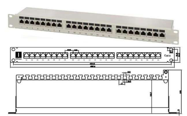 Cat.6-Shielded-Patch-Panel