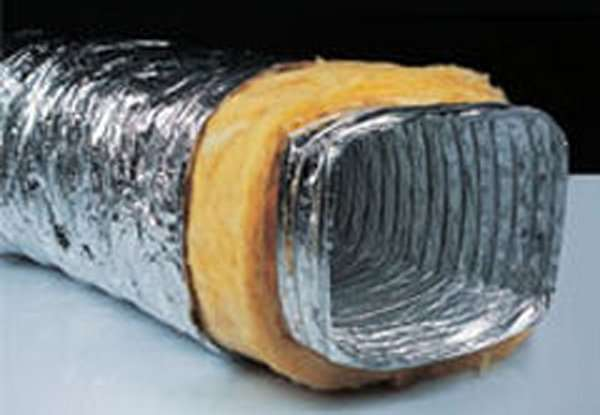 Insulated aluminium rectangular flexible Air Ducts