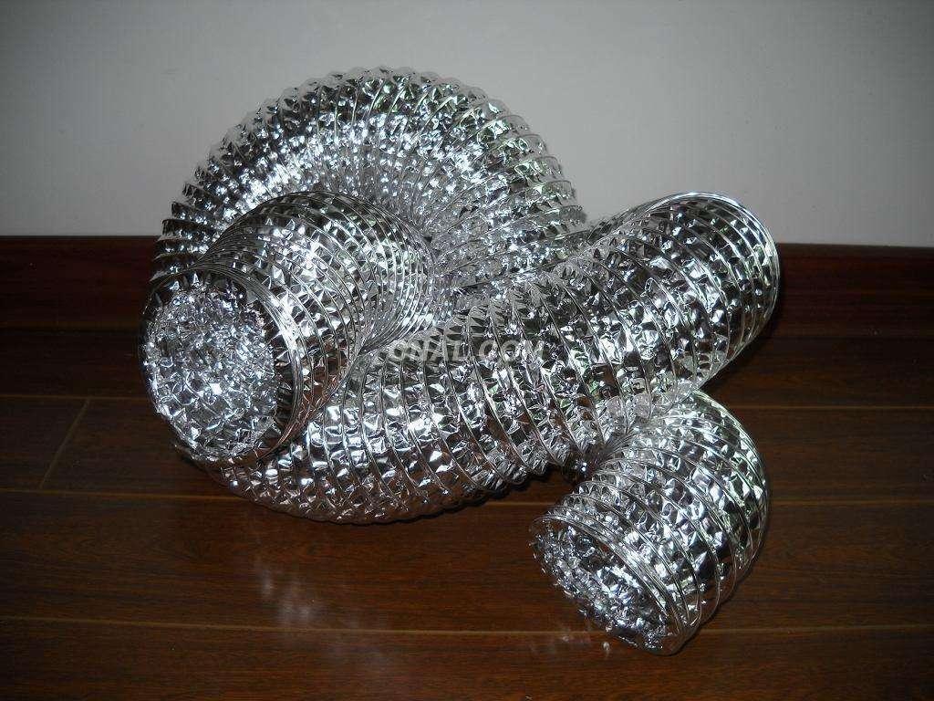 Non-insulated aluminium flexible Air Ductswith single aluminum foil