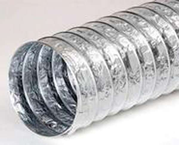 Non-insulated aluminium flexible air ducts with double aluminum foil