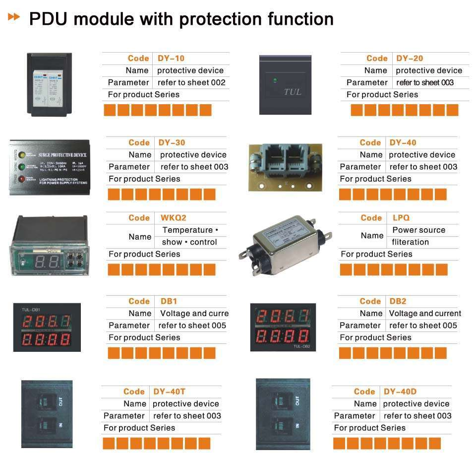 Power Distribution Units Pdu Manufacturer Supplier China