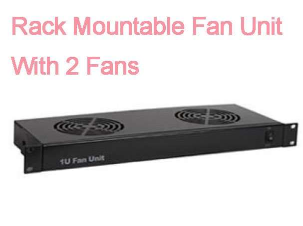 Rack Mountable Fan Unit With 2 Fans