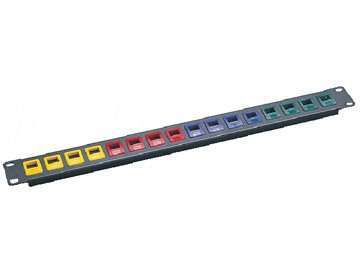 UTP Cat.5E 16 ports Snap in patch panel