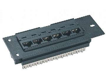 UTP Cat.5E 6 ports patch panel