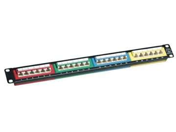 UTP cat.5e 24ports patch panel 4