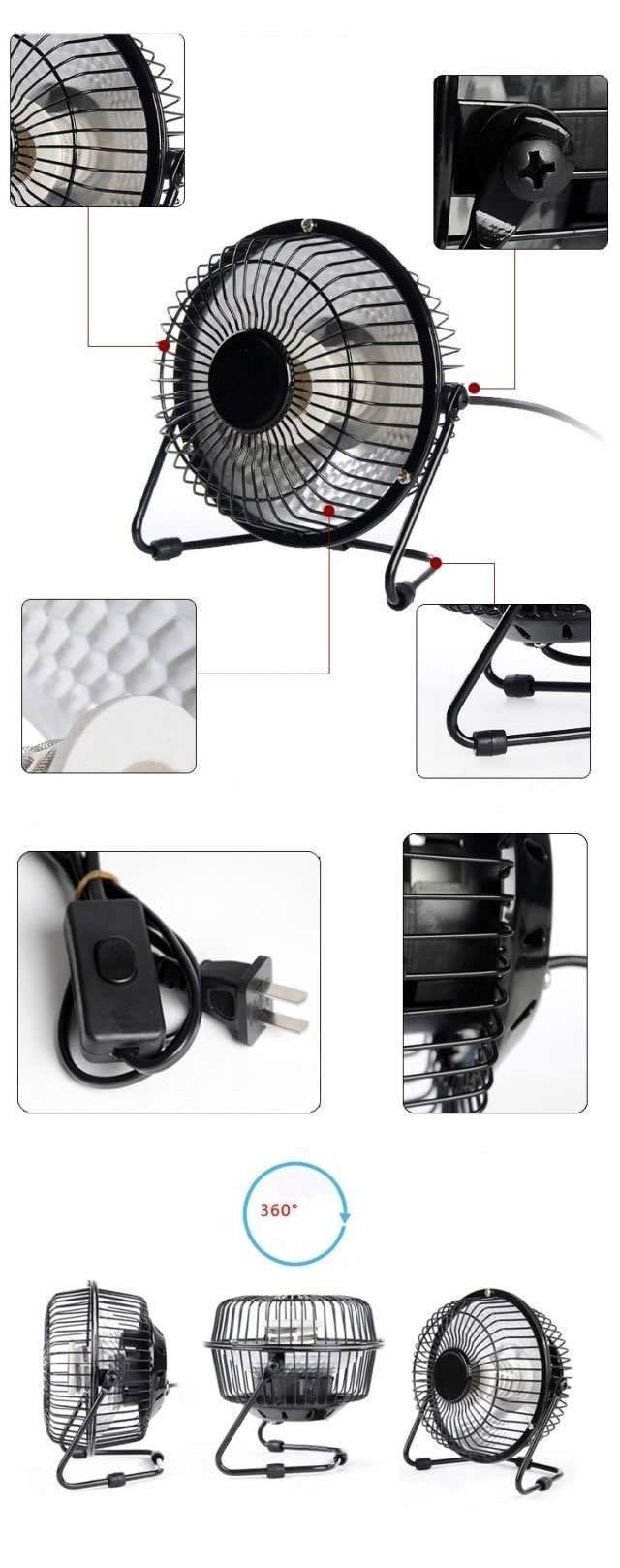 Portable Desktop Mini Electric Heater details