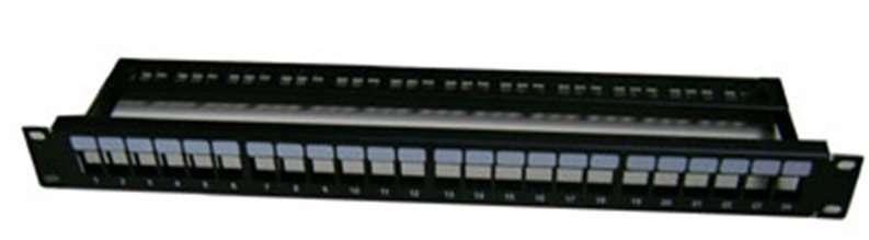 Empty Patch Panels Without Jacks,With cable management 1U 24port