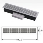 Floor air ventilation slot