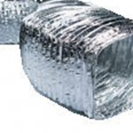 Non-insulated aluminium rectangular flexible air ducts