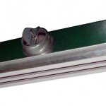 Linear Slot diffuser with plenum box with round collar for flexible duct