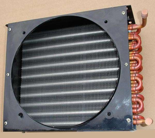 Finned U Tube Air Cooled Heat Exchanger with fan installation frame