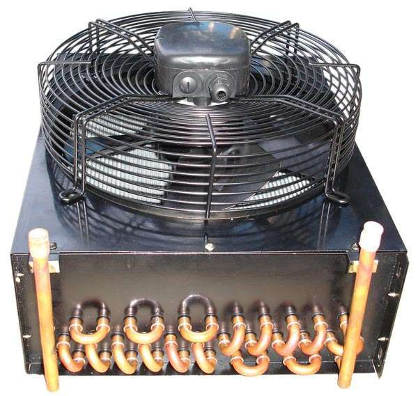 Finned Tube Air Cooled Heat Exchanger system with fan unit