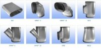 Oval spiral air duct and fittings