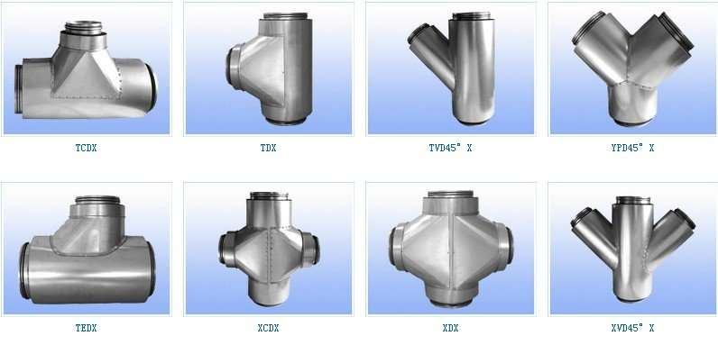 Hvac Duct And Fittings : Hvac parts round spiral air duct and fittings