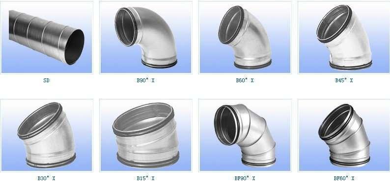 Round spiral air duct