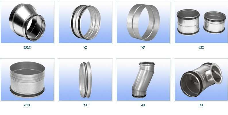 Hvac parts round spiral air duct and fittings