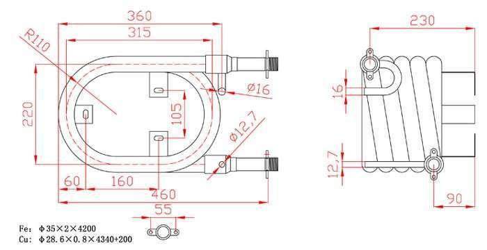 24000BTU-Coaxial-heat-exchanger