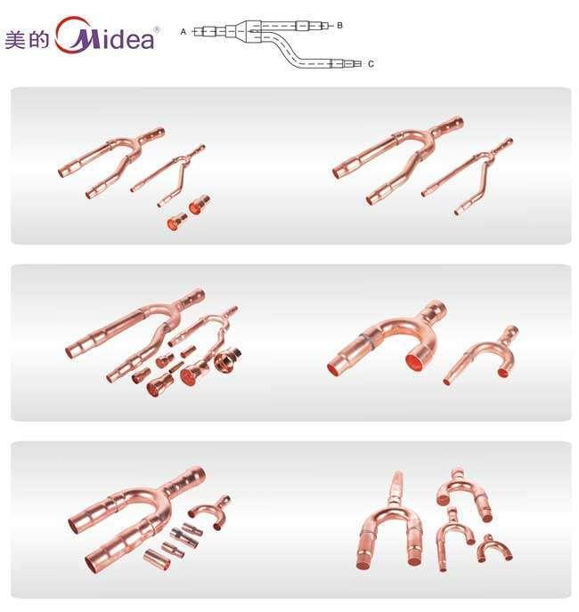 Midea Copper Distribution Tube Fittings