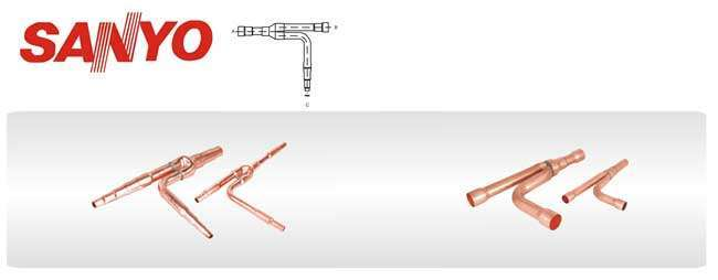 SANYO Copper Distribution Tube Fittings