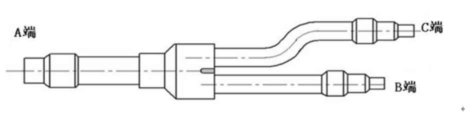 Samsung Copper Distribution Tube Fittings drawing