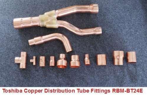 Toshiba Copper Distribution Tube Fittings Copper Branching Y Branch-RBM-BT24E