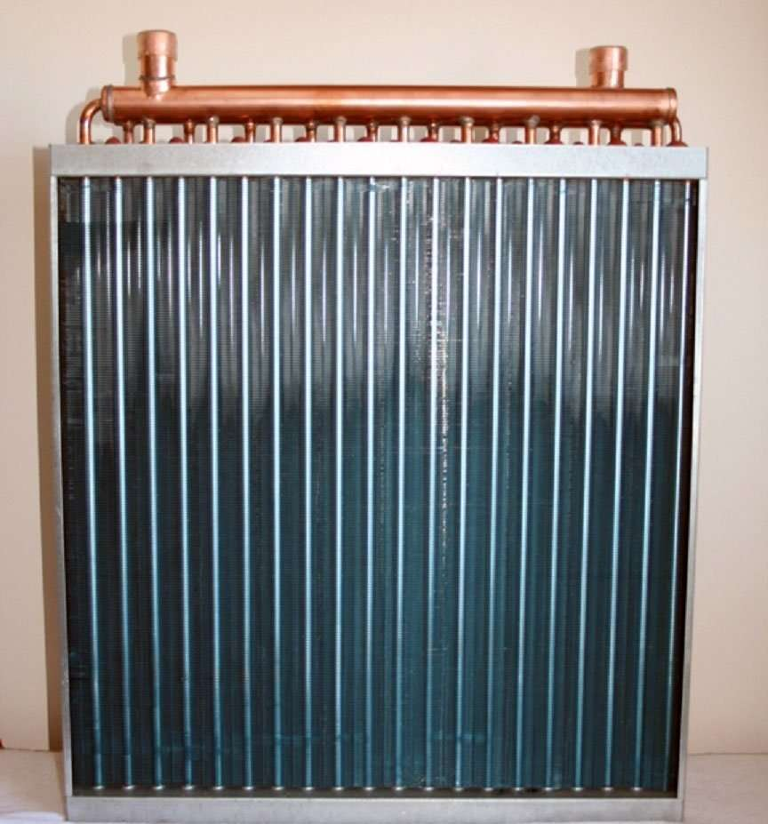 Air Heat Exchanger ~ Water to air heat exchanger outdoor wood furnace