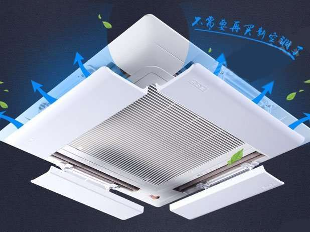 air baffle for ceiling air conditioner
