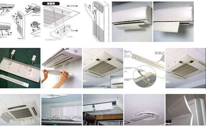 ceiling-Air Baffle For Air Conditioner,ceiling Air deflector