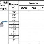 1pc ball valve 1000psi