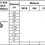 2pc ball valve 1000psi