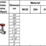 screw globe valve 200psi