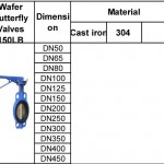 water bufferfly valves 150LB