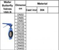 water bufferfly valves150LB
