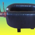 Supply 1 ton Coaxial Condenser for marine,1 ton of refrigeration Coaxial heat exchager for sea water