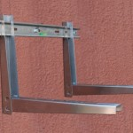 No-screw Stainless Steel Air Conditioner Bracket With Sliding Bar