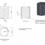 Single spiral finned tube heat exchanger