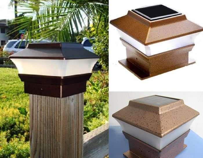 8 Outdoor Garden Solar Post Deck Cap Square Fence Light