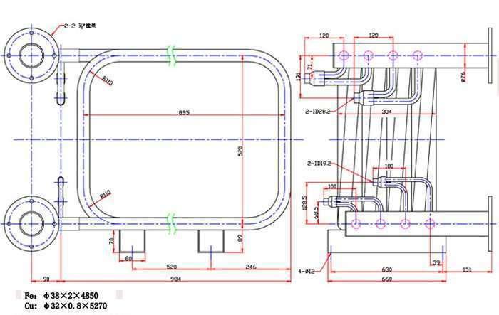 160000BTU-Coaxial-heat-exchanger