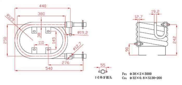 4000BTU-Coaxial-Heat-Exchanger