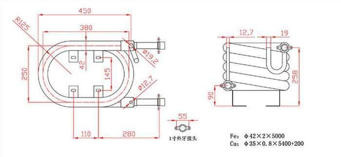 48000BTU-Coaxial-Heat-Exchanger
