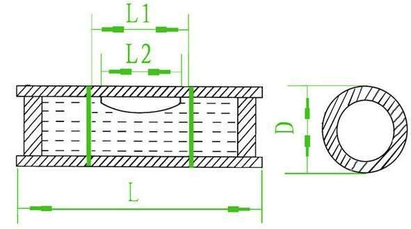 Cylindrical Bubble Level drawing