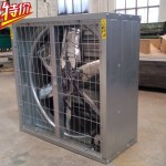 Exhaust fan for evaporative cooling pad
