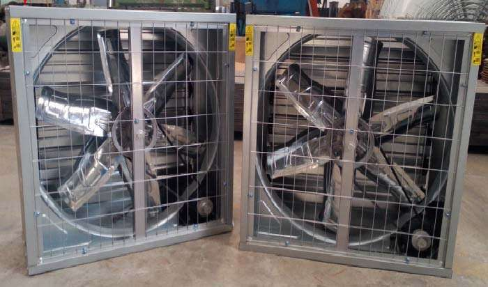 Exhaust fan for evaporative cooling pad-2