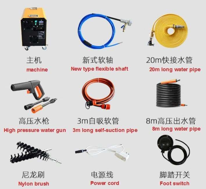 Chiller tube cleaning equipments 36