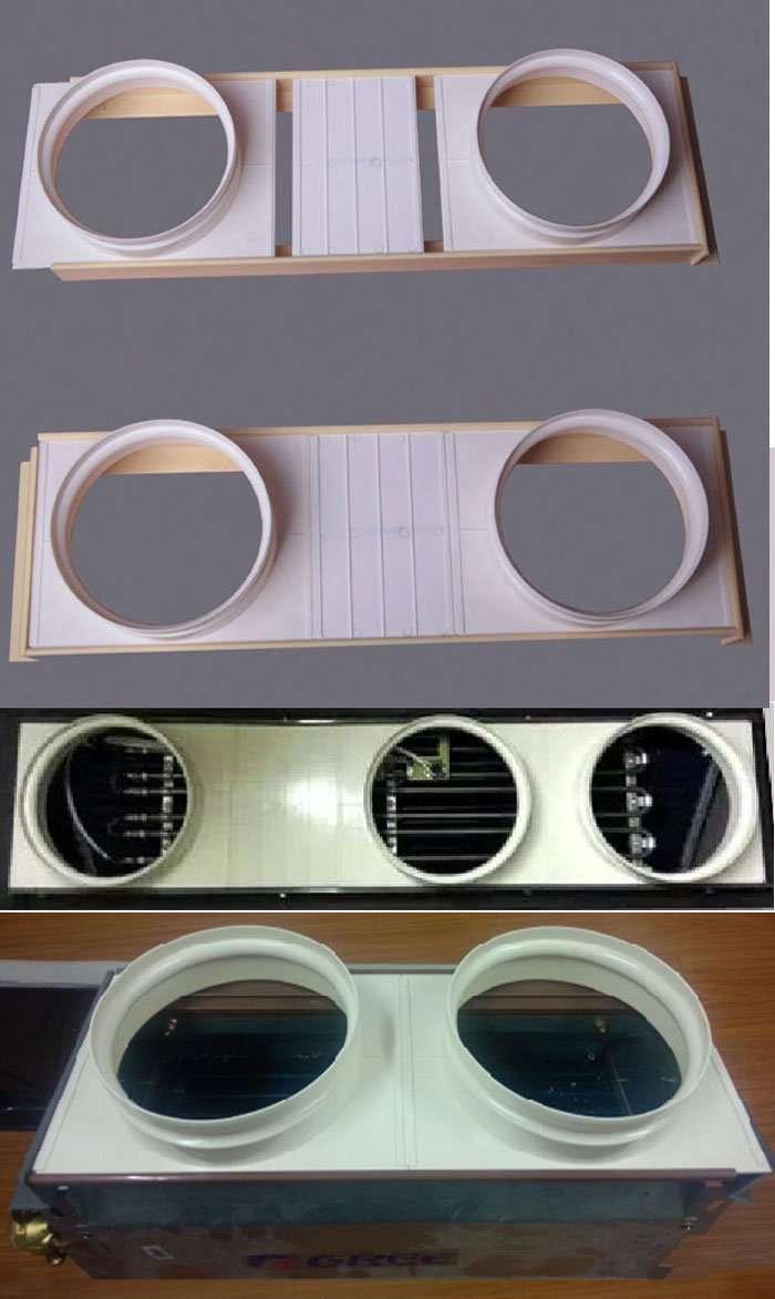 ABS Plastic plenum box with round collar 2
