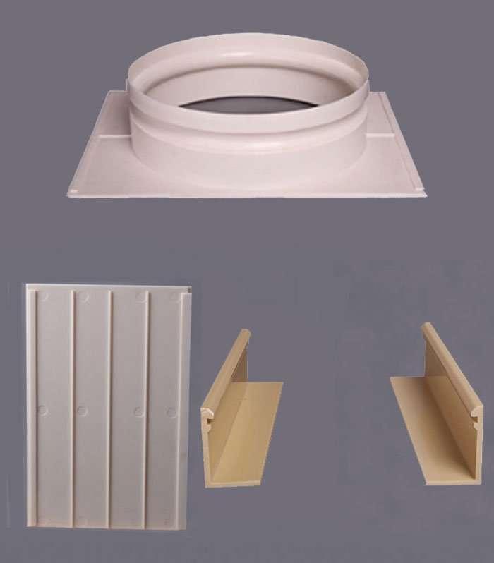 ABS Plastic plenum box with round collar1