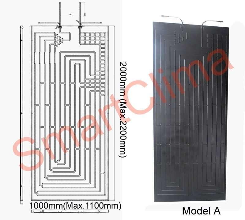 Thermodynamic solar panel 2000X1000