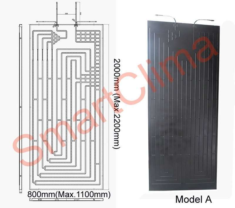 Thermodynamic solar panel 2000X800