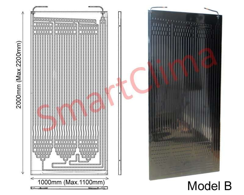 Thermodynamic solar panel 2000x1000mm