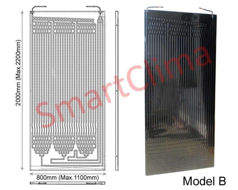 Thermodynamic solar panel 2000x800mm